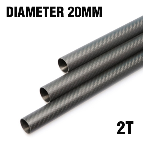 Carbon Fiber Pipe (Dia. 20mm / Inner Dia. 16mm)