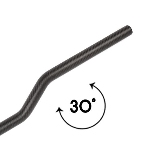 30˚ S-Shaped Carbon Pipe